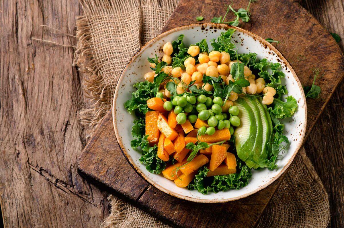 תזונה דלת שומן מבוססת צומח